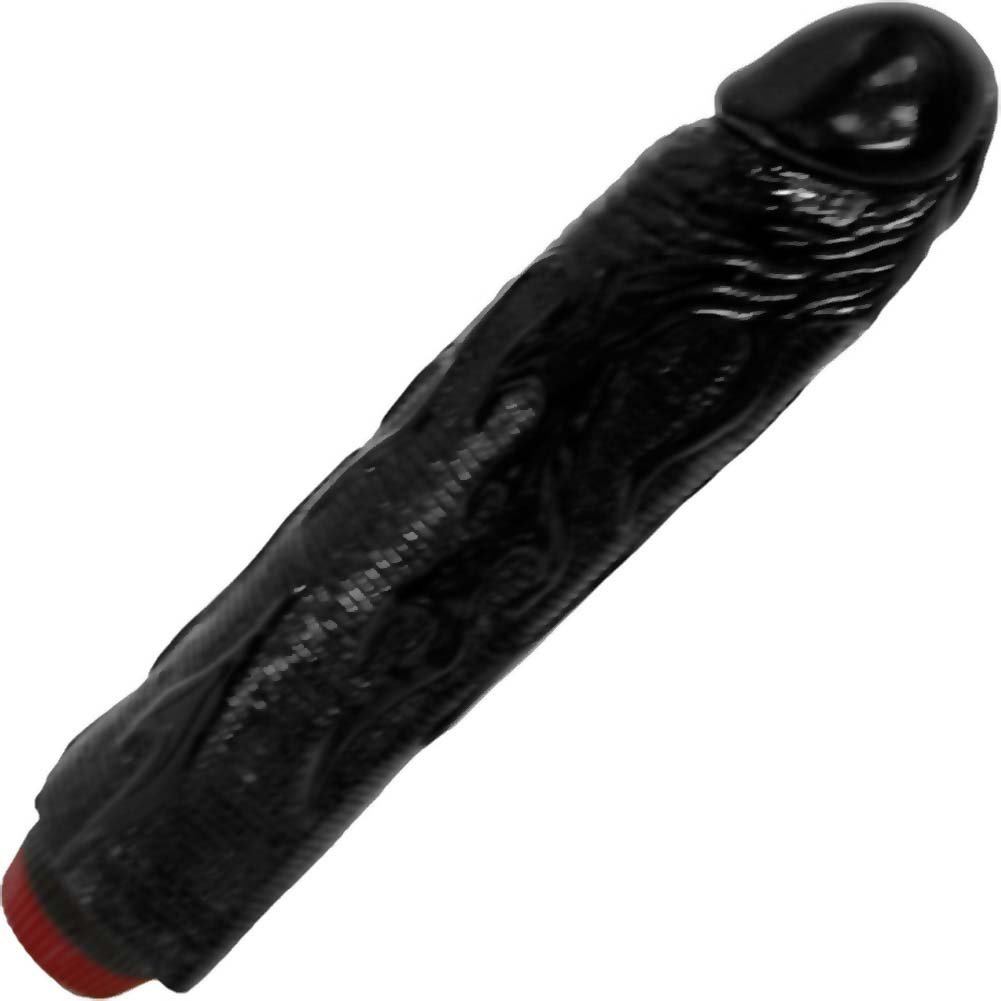 "OptiSex Hot Rod Vibrating Dong for Sensual Play 9"" Midnight Black - View #2"