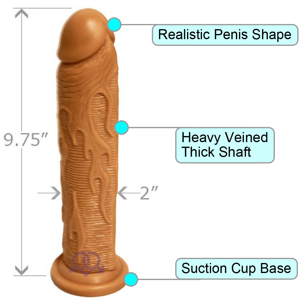 "OptiSex Hot Rod Dildo with Suction Mount Base 9"" Natural Flesh - View #1"