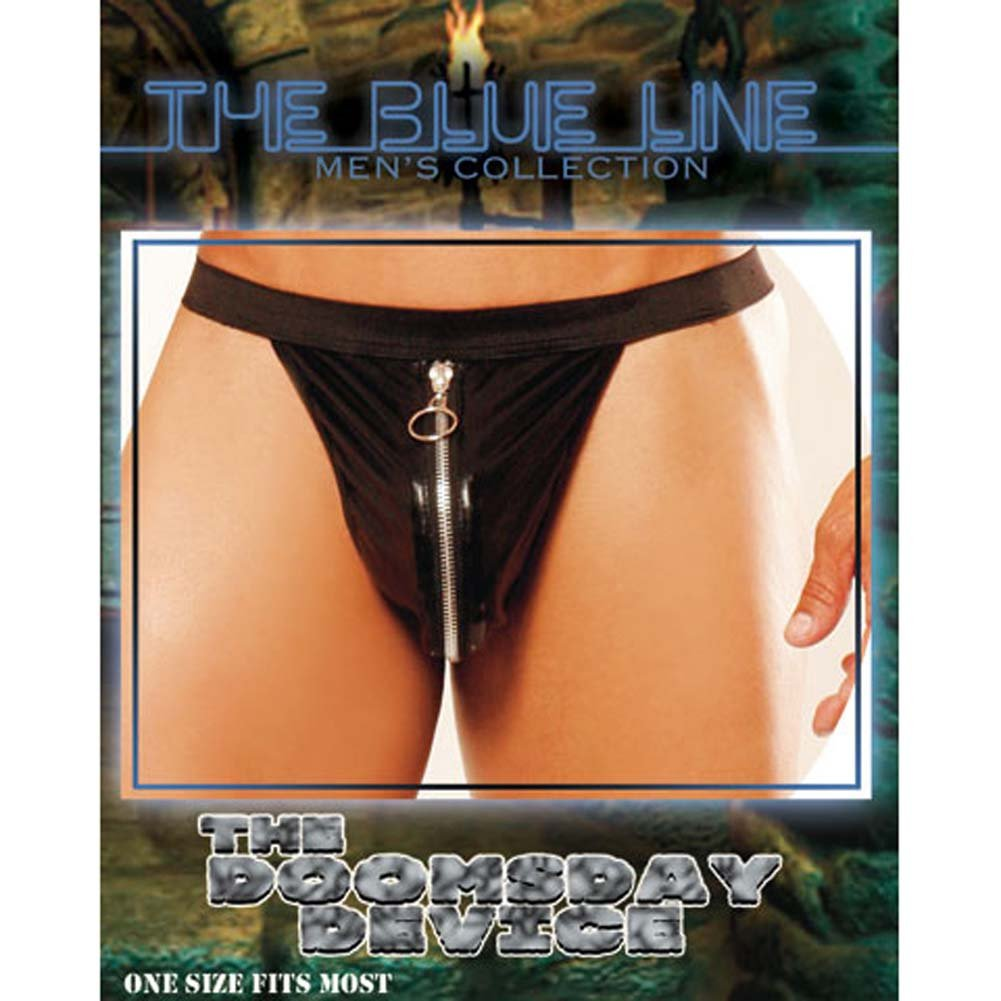 Doomsday Device Male Thong with Zipper - View #3