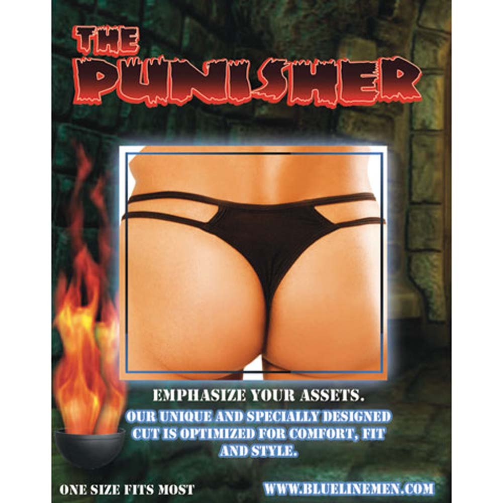 Punisher Male Thong with Chains - View #1