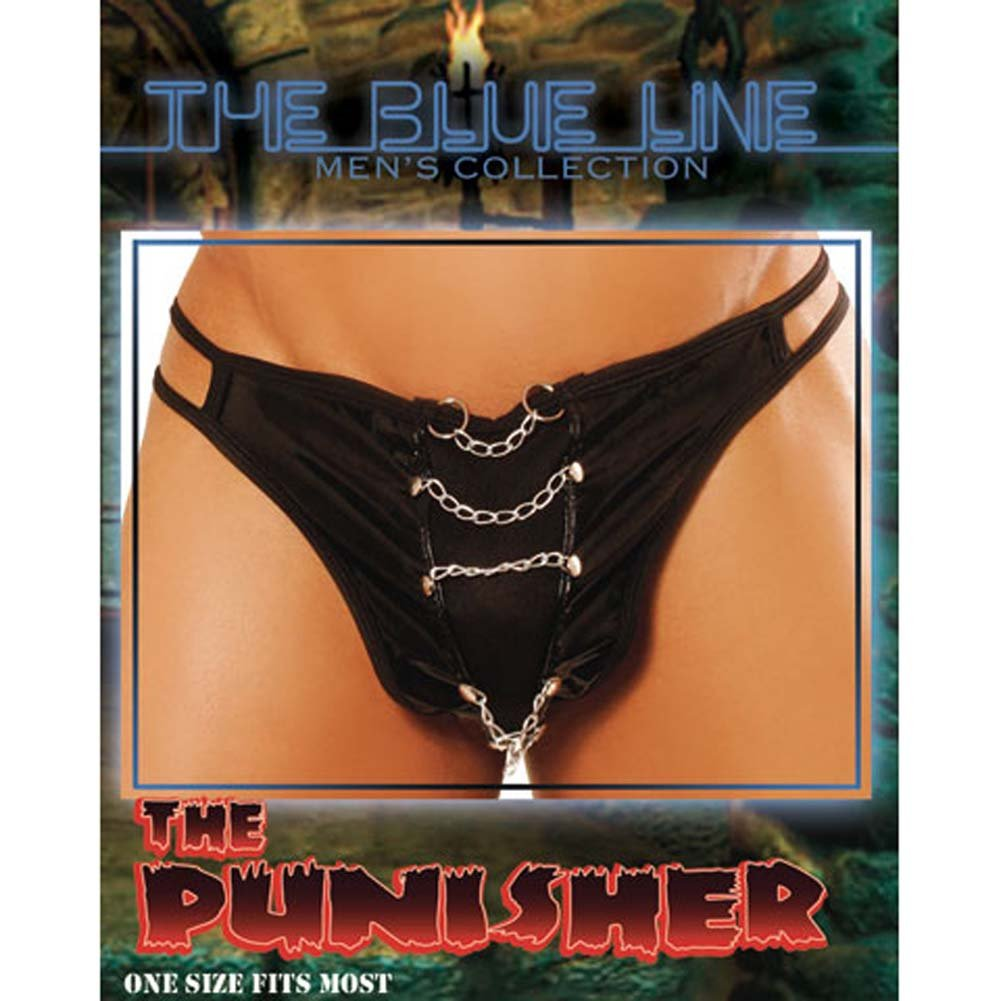 Punisher Male Thong with Chains - View #3