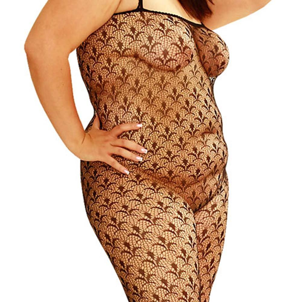 Flower Lace Bodystocking Plus Size 1X/3X - View #1