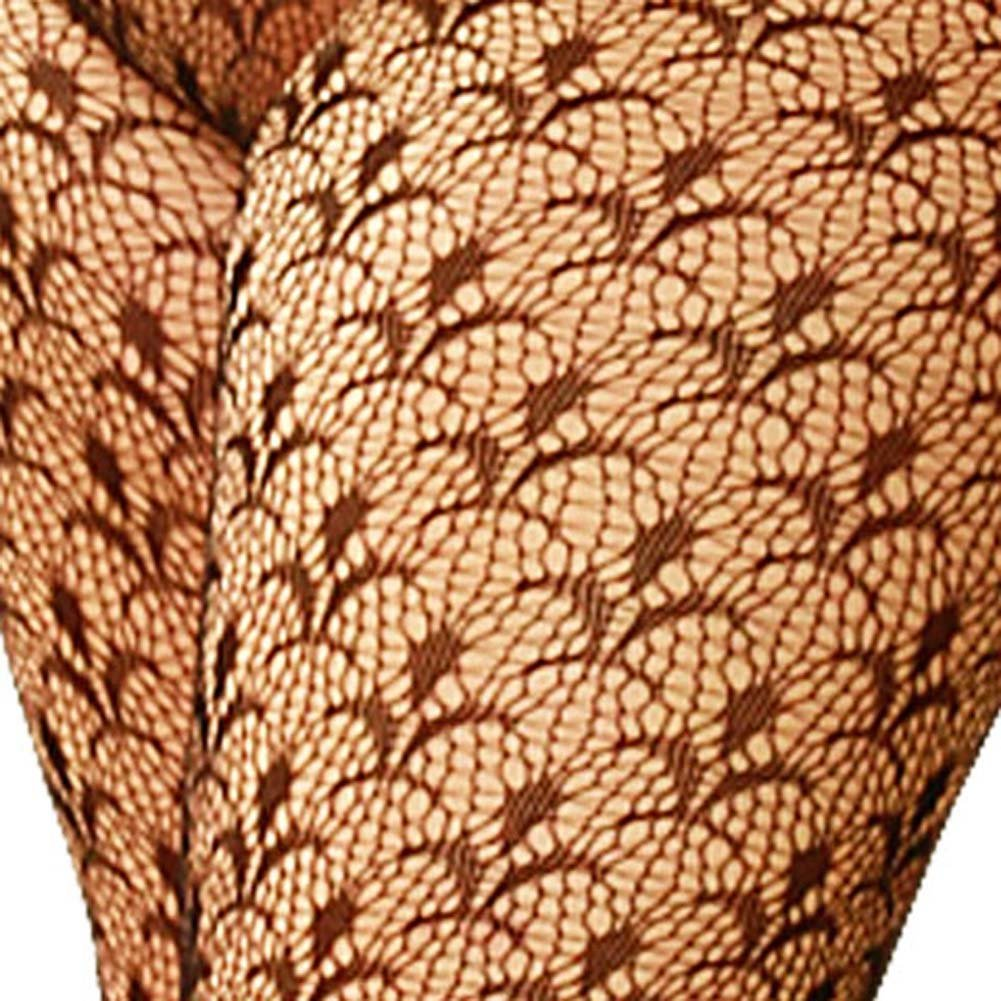 Flower Lace Bodystocking Plus Size 1X/3X - View #3