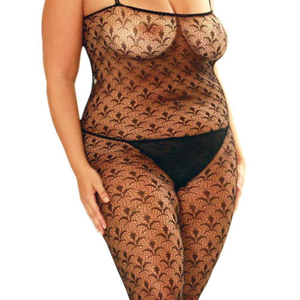 Flower Lace Bodystocking Plus Size - View #1