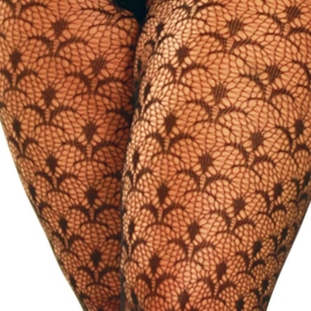 Flower Lace Bodystocking Plus Size - View #3
