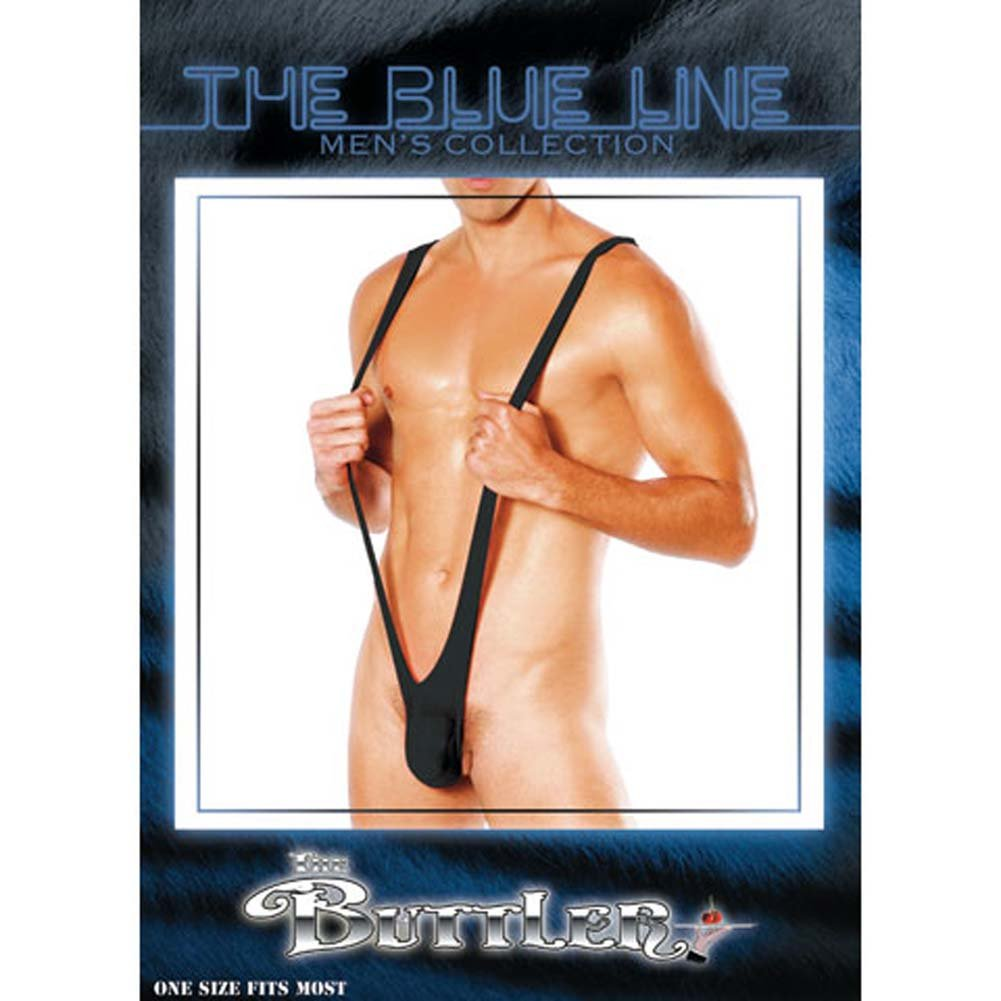 Buttler Male Suspender Thong Black - View #1