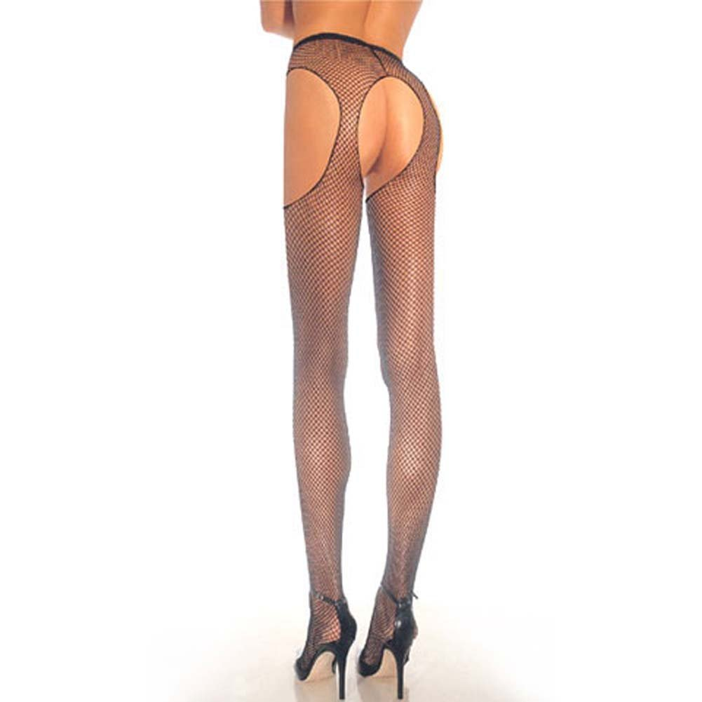 Fishnet Suspender Pantyhose Black - View #1