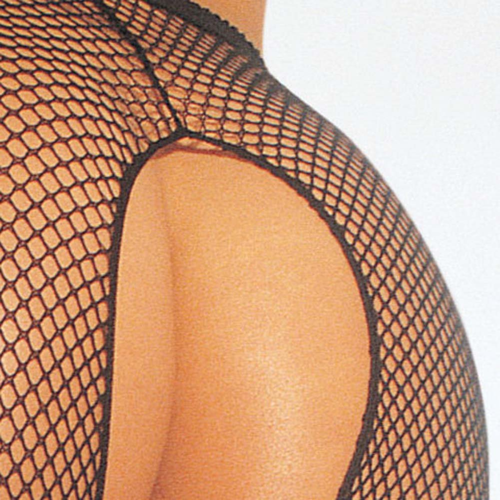 Fishnet Suspender Pantyhose Black - View #3