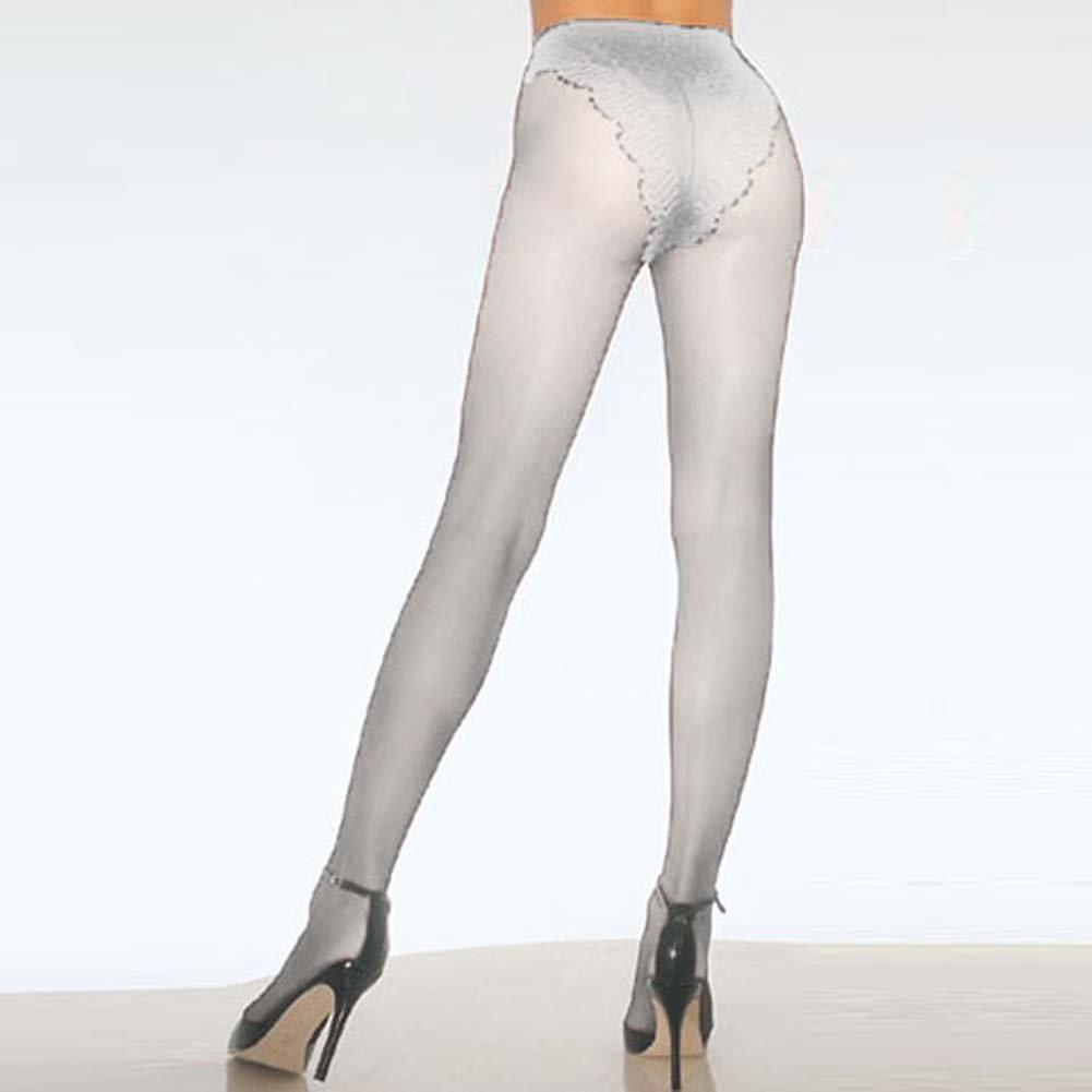 Fabulous French Cut Panty Stocking White - View #1