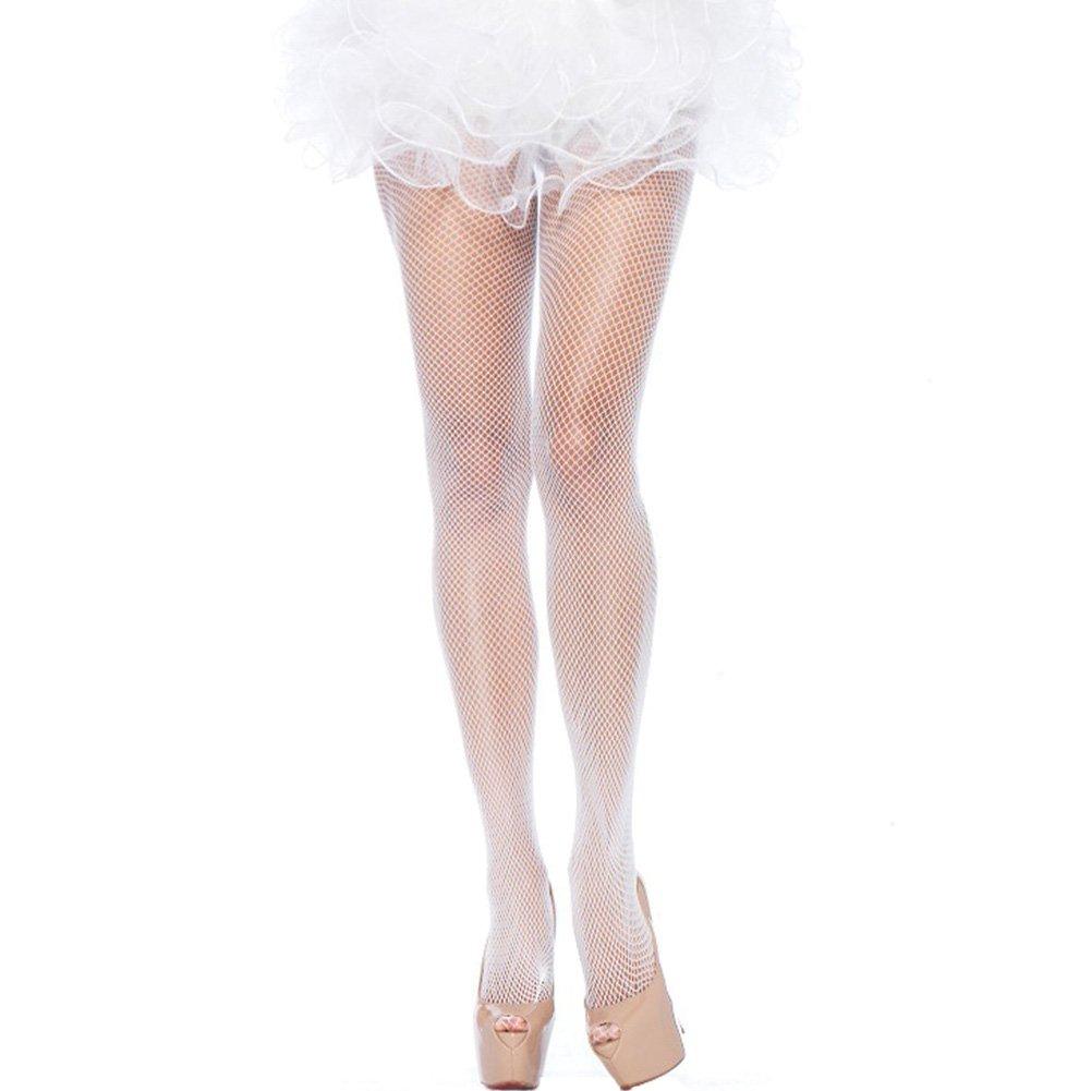 Leg Avenue Nylon Fishnet Pantyhose One Size White - View #1