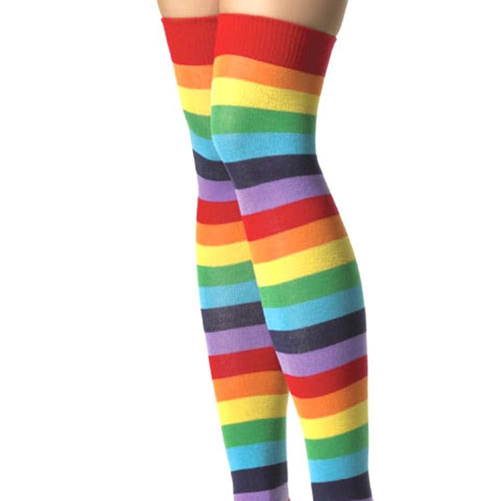 Lycra Acrylic Rainbow Thigh Hi One Sze - View #3