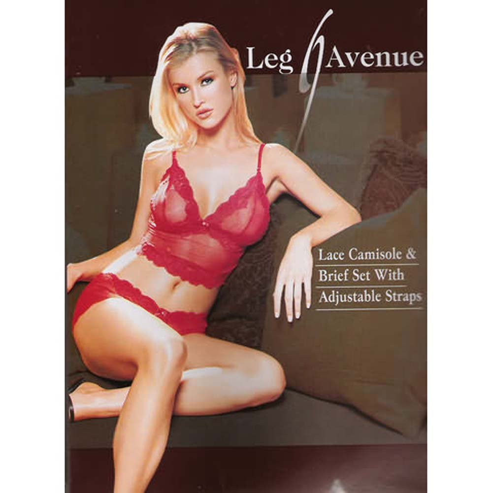 Lace Camisole with Brief Set - View #1
