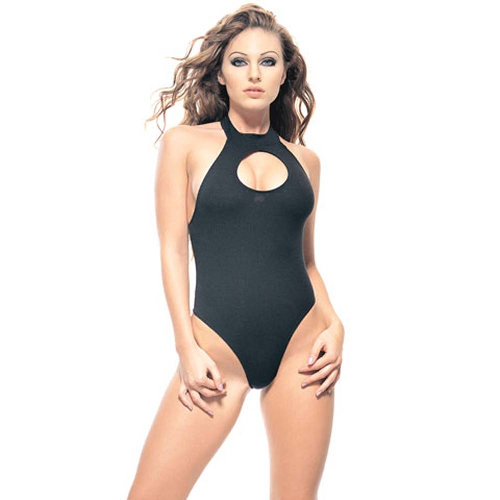Lycra Opaque Bodysuit with Racer Back - View #2