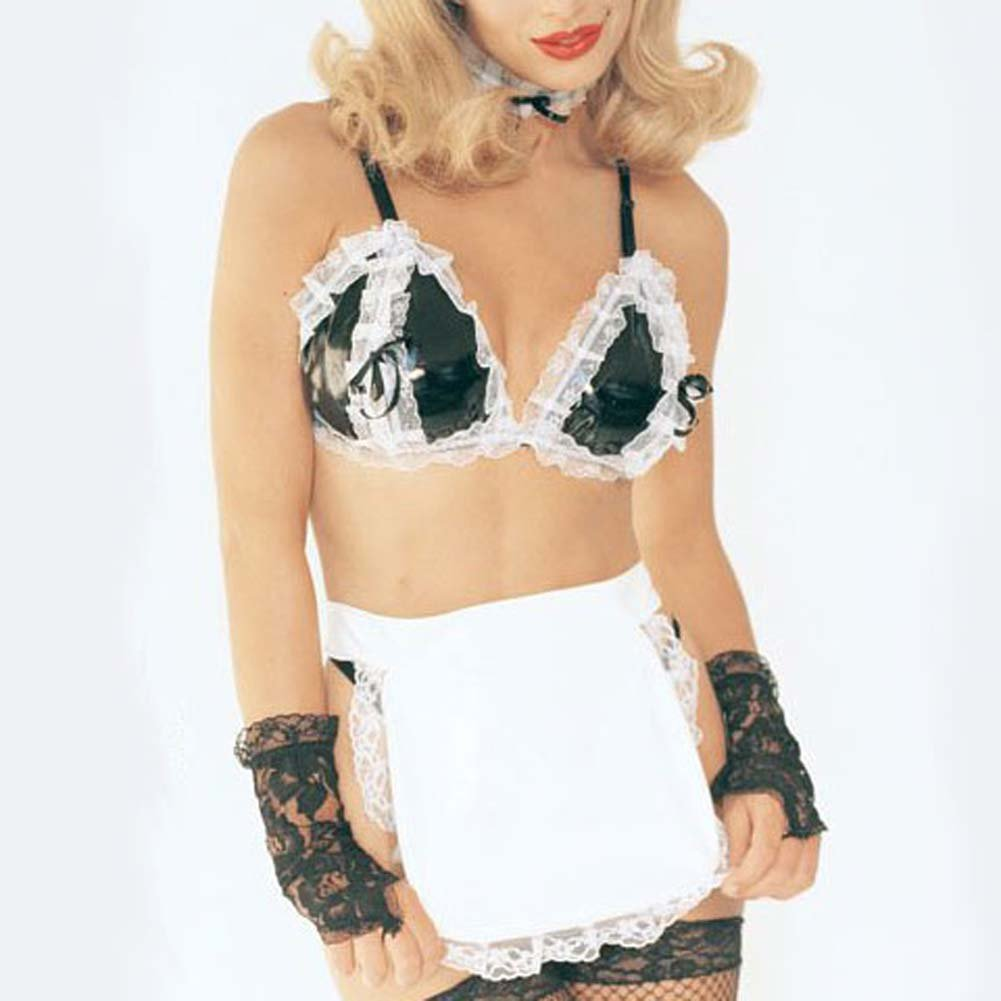French Maid Outfit Vinyl 5 Pc. - View #1