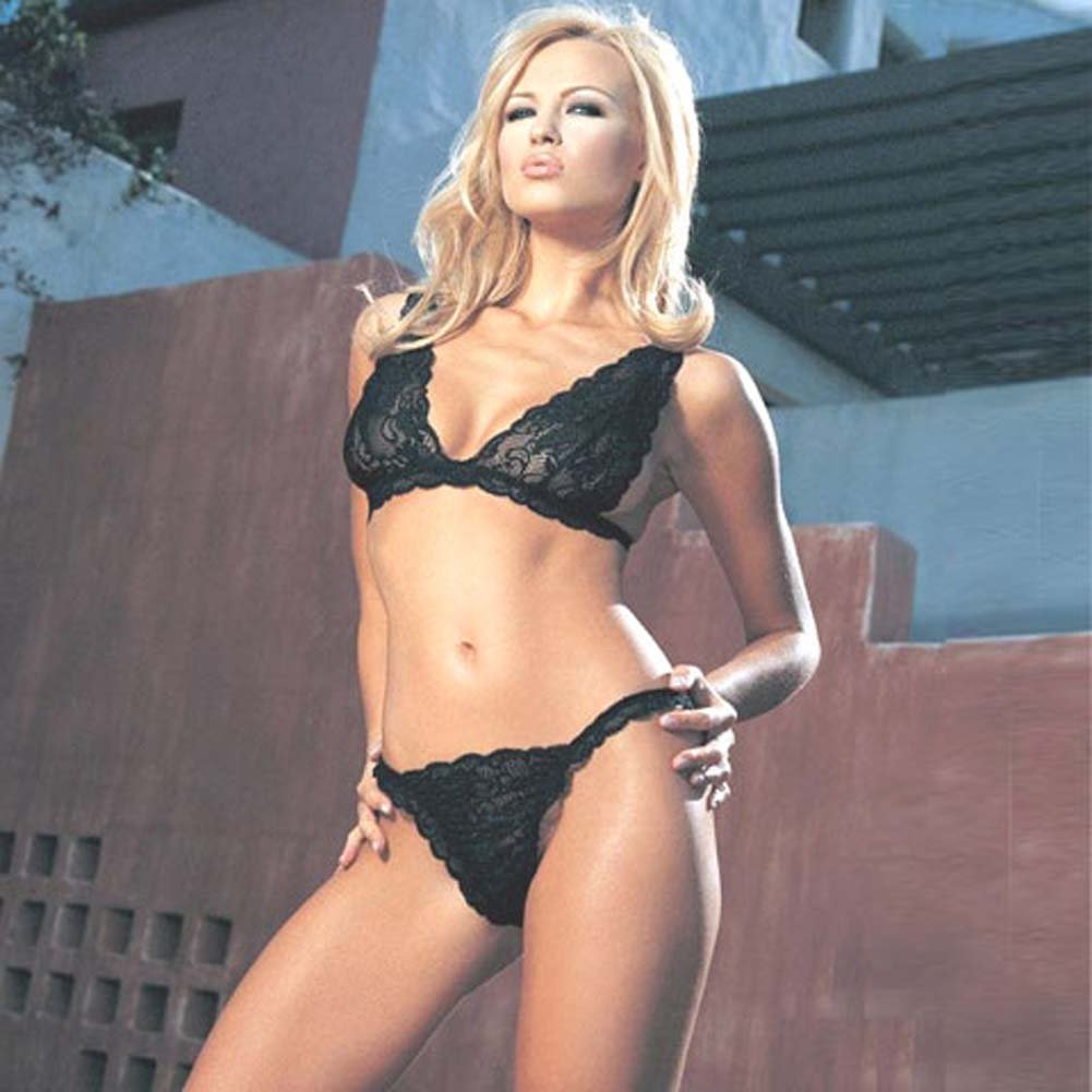 Lace Bra Top with Thong Set 2 Pc. - View #2