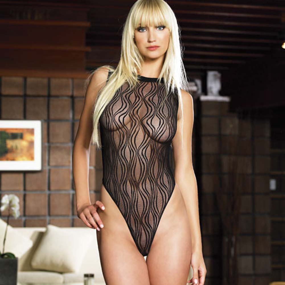 Swirl Lace Bodysuit with Snap Closure - View #2