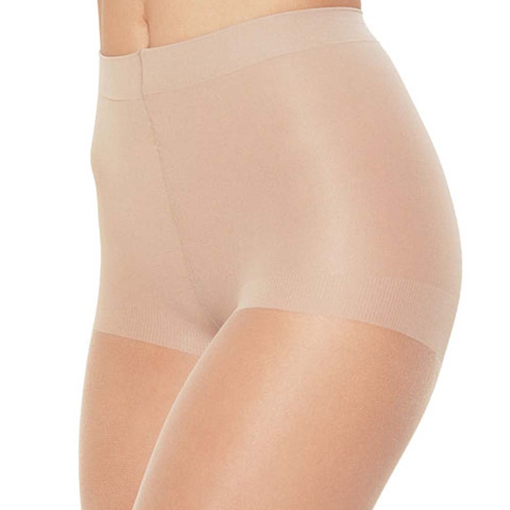 Leg Avenue Shaping Control Top Pantyhose One Size White - View #2