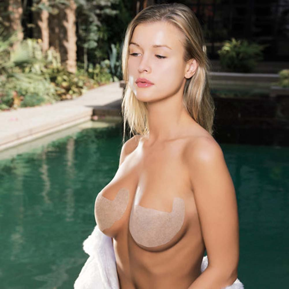 Solid Invisible Bra Backless and Strapless Nude Size A - View #2
