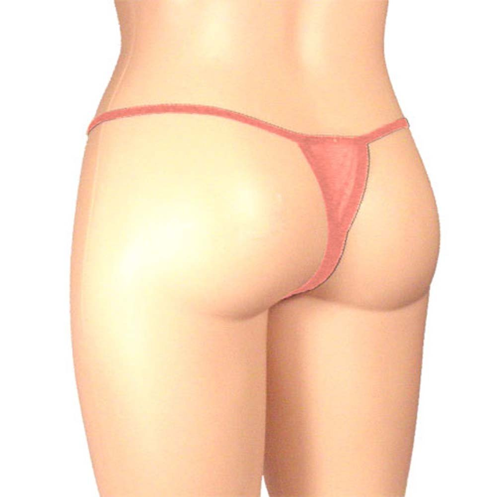 Sheer Butterfly Crotchless Panty Pink Plus Size - View #2