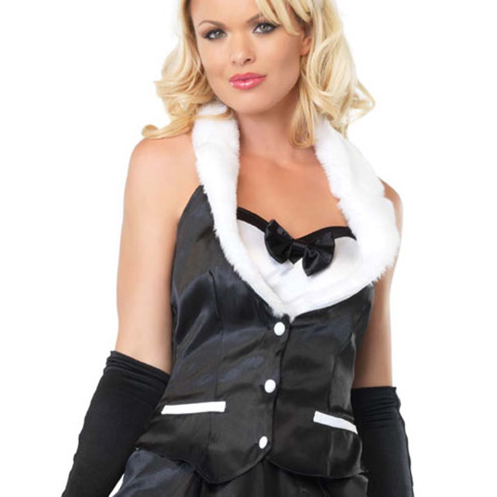 Leg Avenue Cottontail Cutie Costume Small Black/White - View #3
