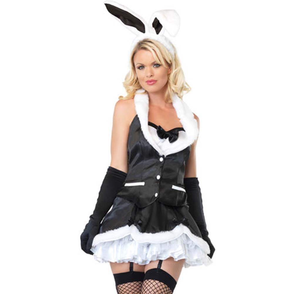 Leg Avenue Cottontail Cutie Costume Large Black/White - View #1