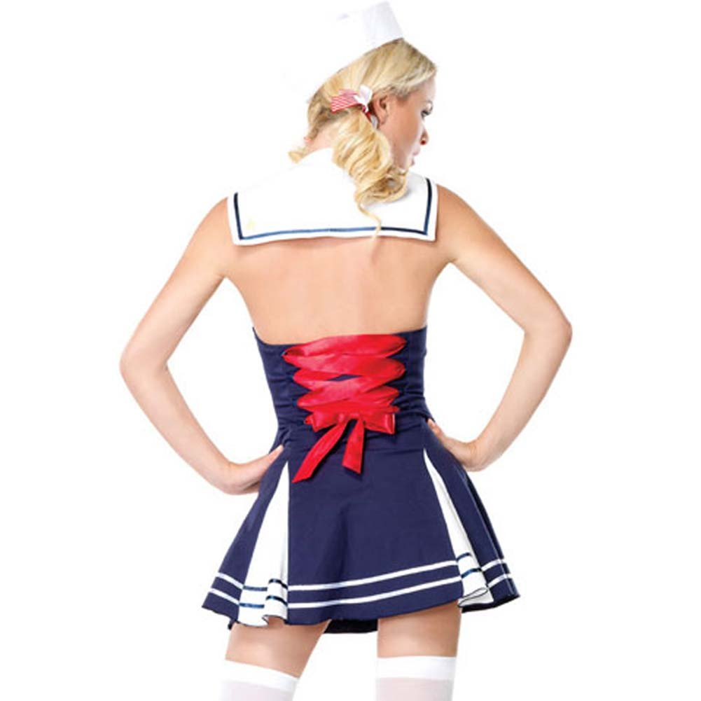 Flirty First Mate Costume by Leg Avenue Small Navy - View #2