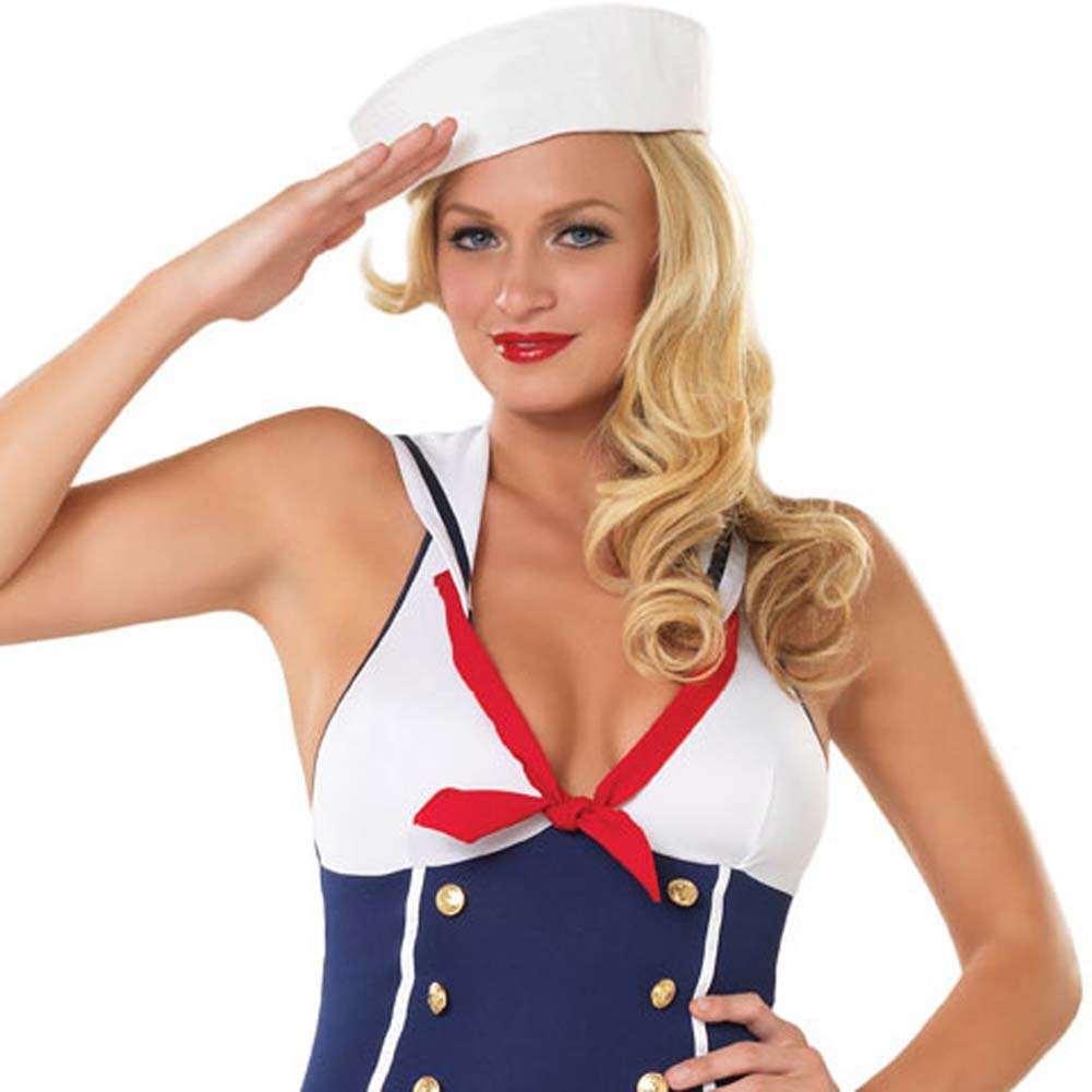 Ahoy There Hottie Costume by Leg Avenue Small/Medium Navy - View #3