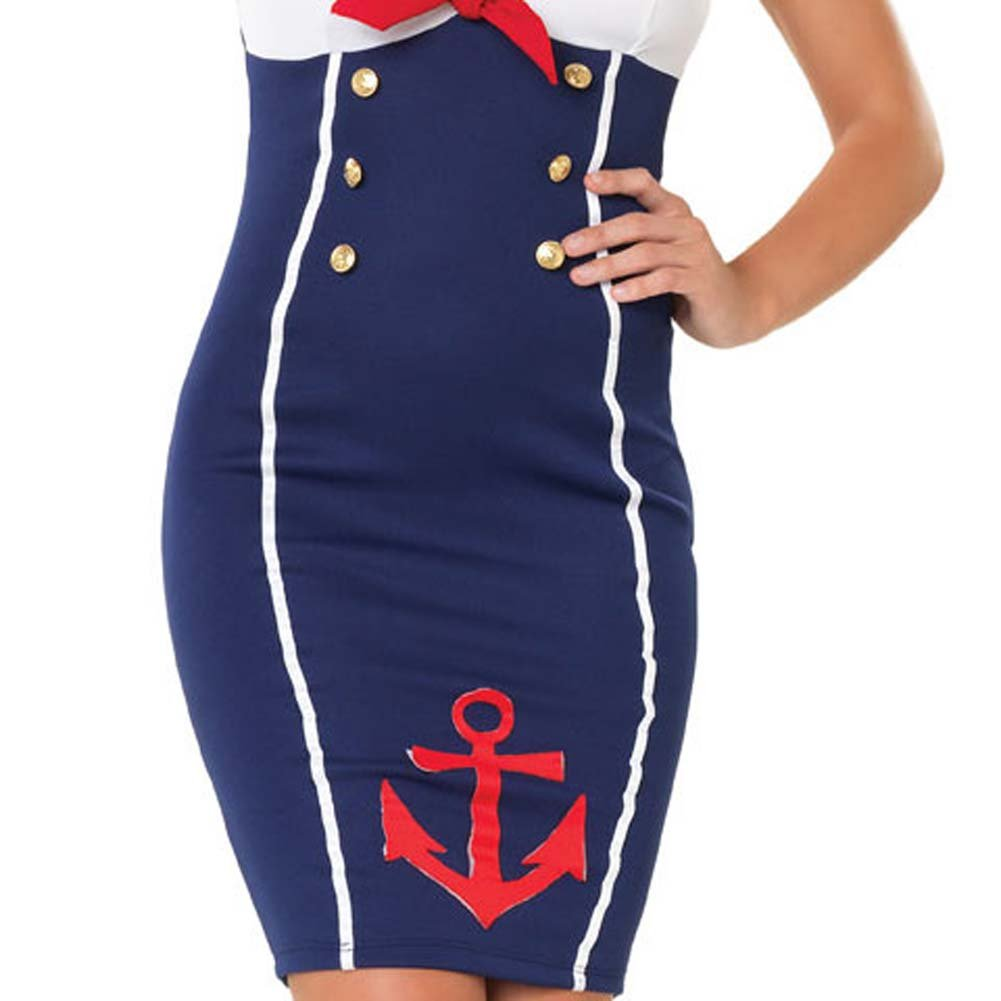 Ahoy There Hottie Costume by Leg Avenue Medium/Large Navy - View #4