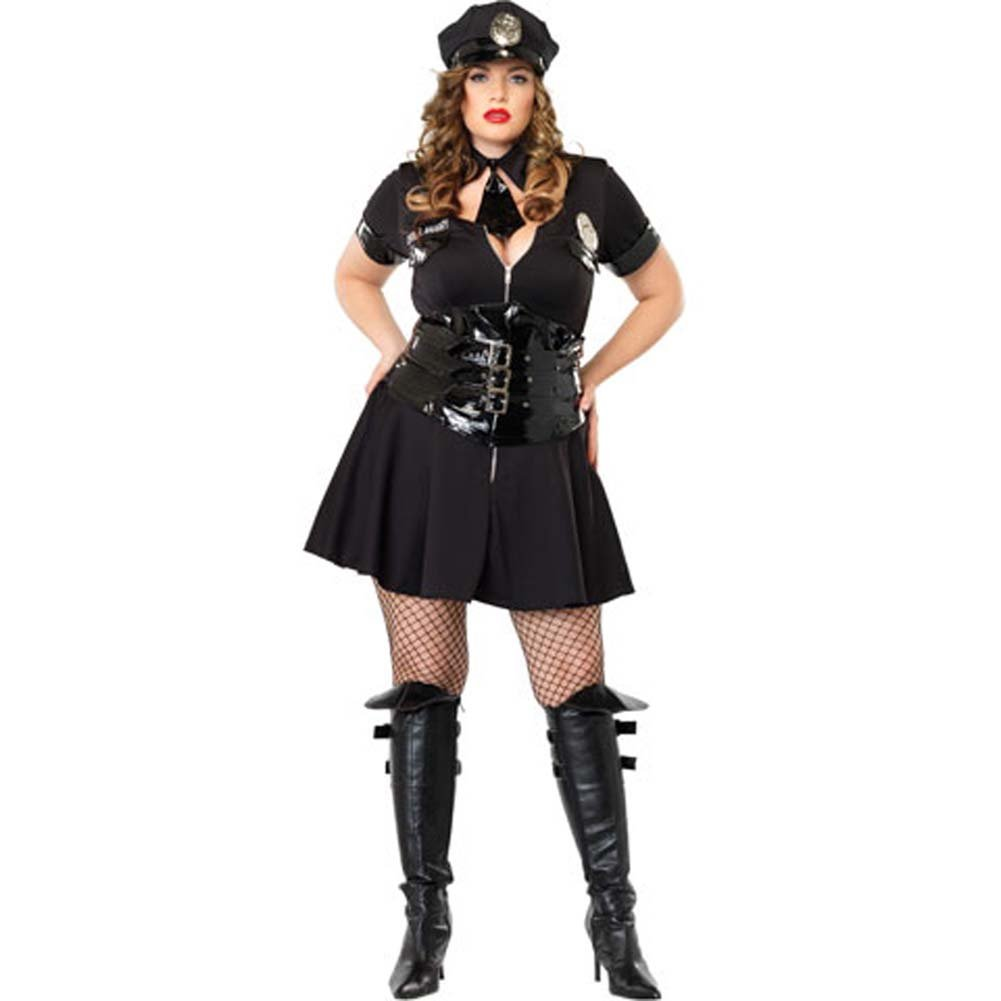 Officer Naughty Costume Size Plus 1X/2X - View #2