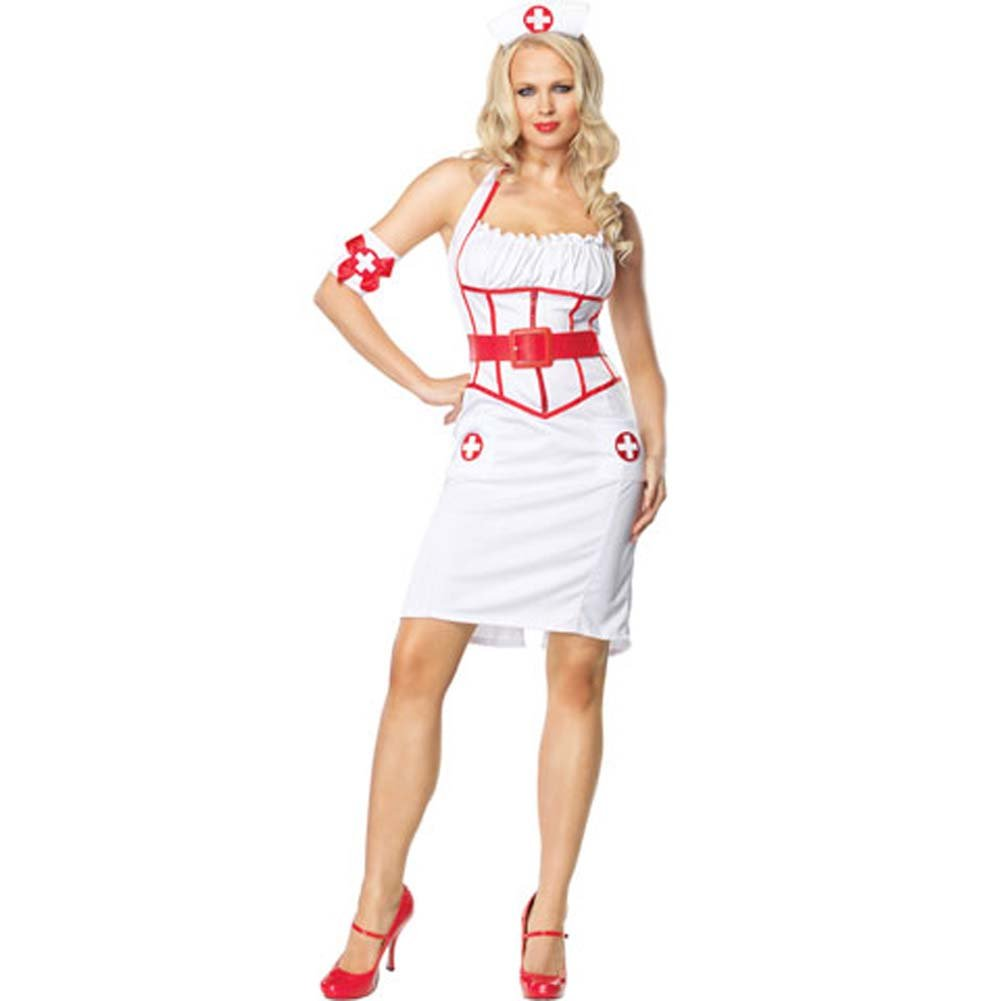 Leg Avenue Sexy Naughty Nurse Costume Extra Large - View #2