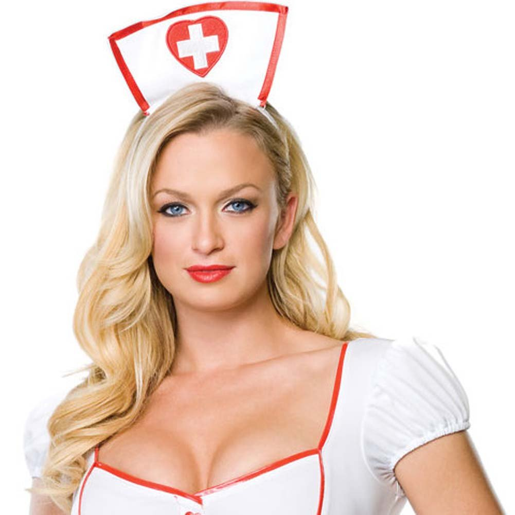 Nurse Knockout Costume Small/Medium WhiteRed - View #3