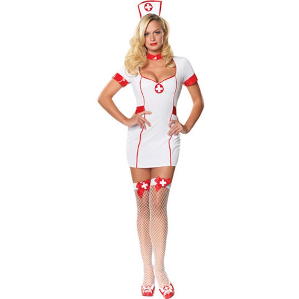 Private Nurse Costume Small/Medium White - View #2