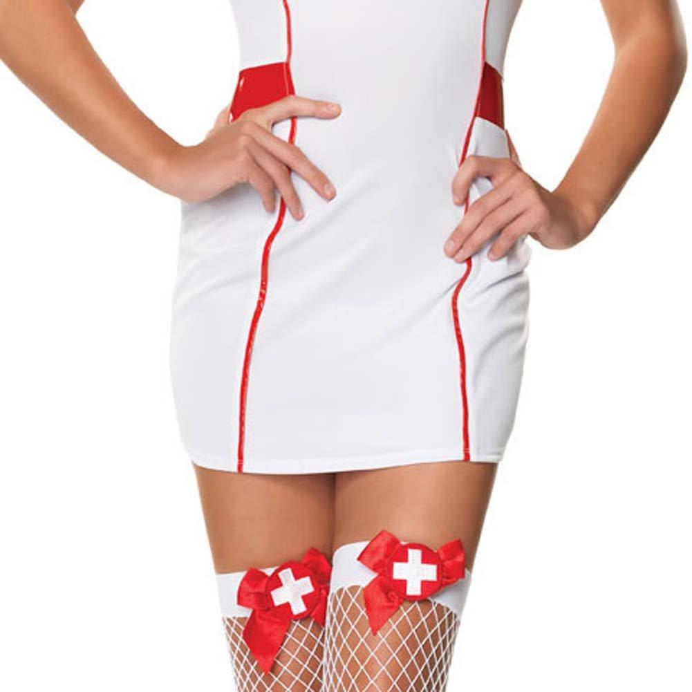 Private Nurse Costume Small/Medium White - View #4