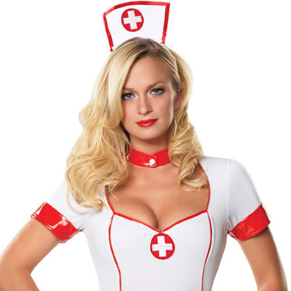 Private Nurse Costume Medium/Large White - View #3