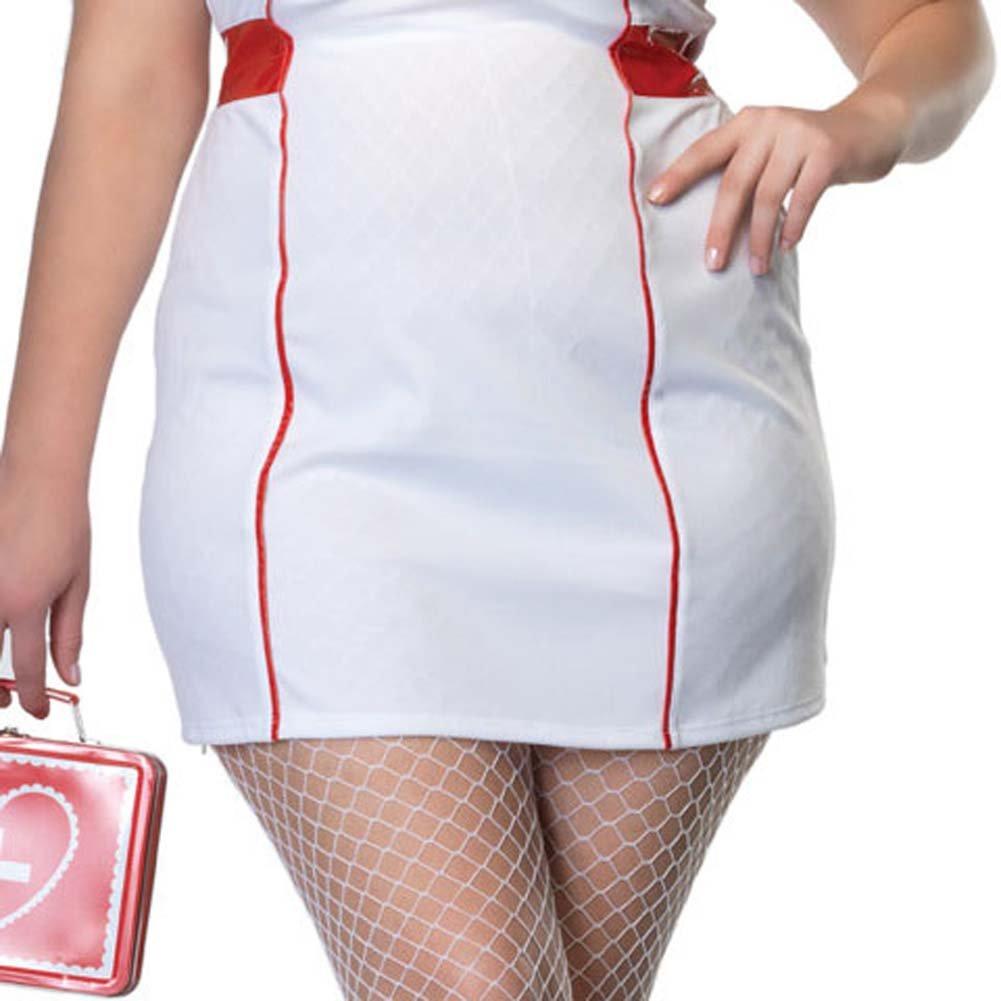 Private Nurse Costume Size Plus 1X/2X White - View #4
