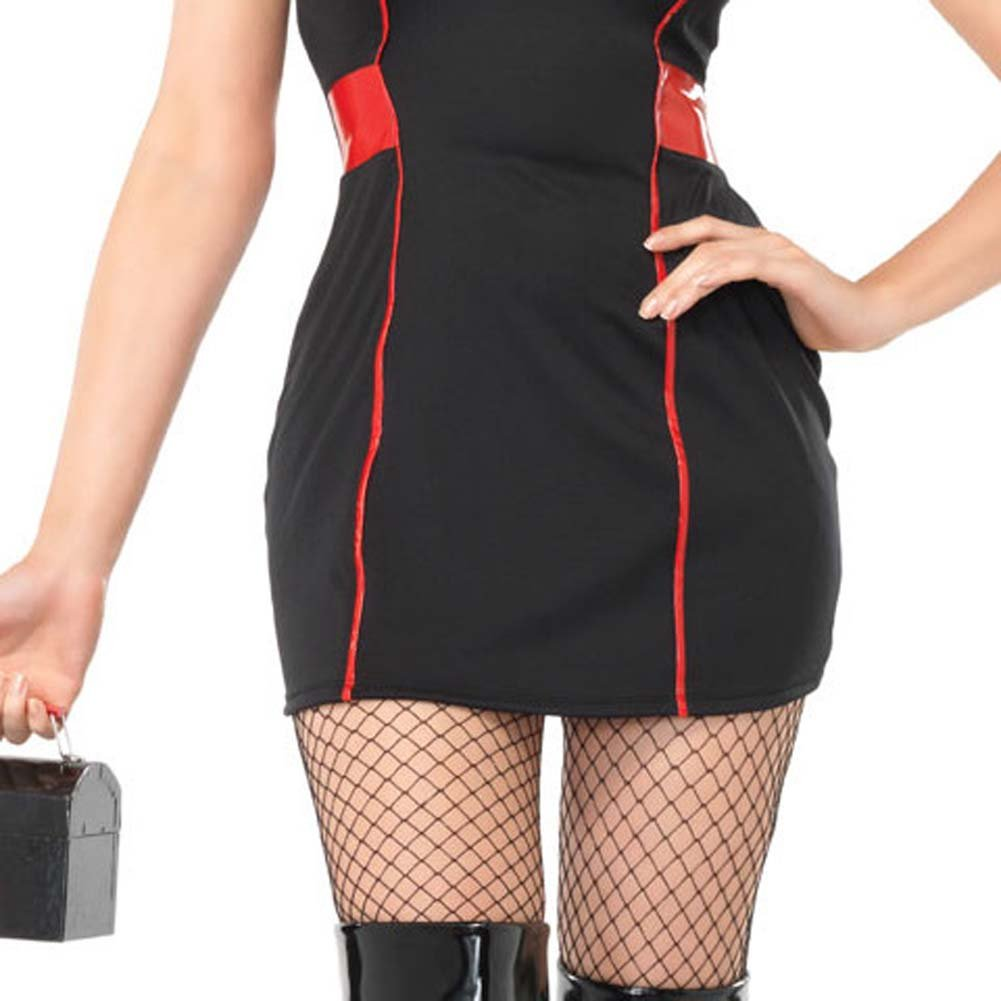 Private Nurse Costume Medium/Large Black - View #4