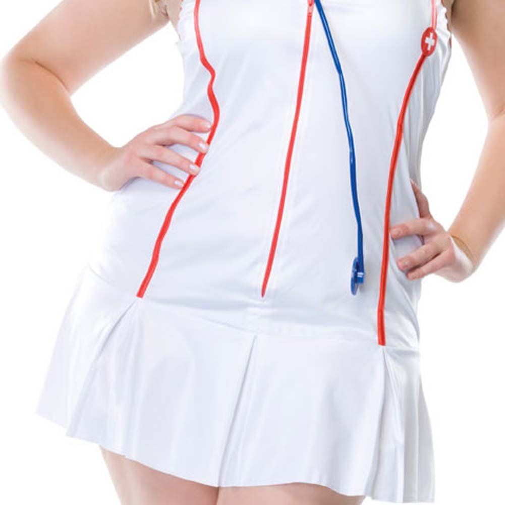 Head Nurse Costume Size Plus 1X/2X WhiteRed - View #4