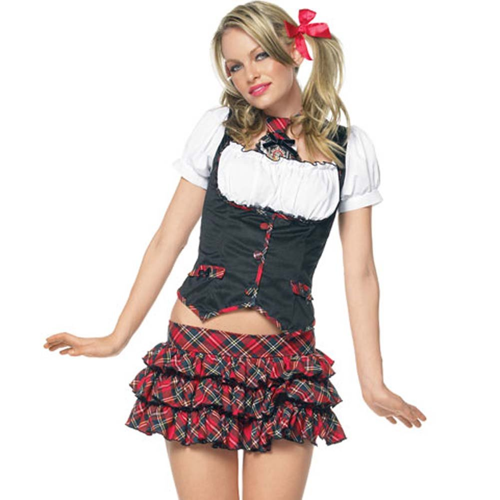 Lil Miss Naughty Schoolgirl Costume Extra Small - View #1