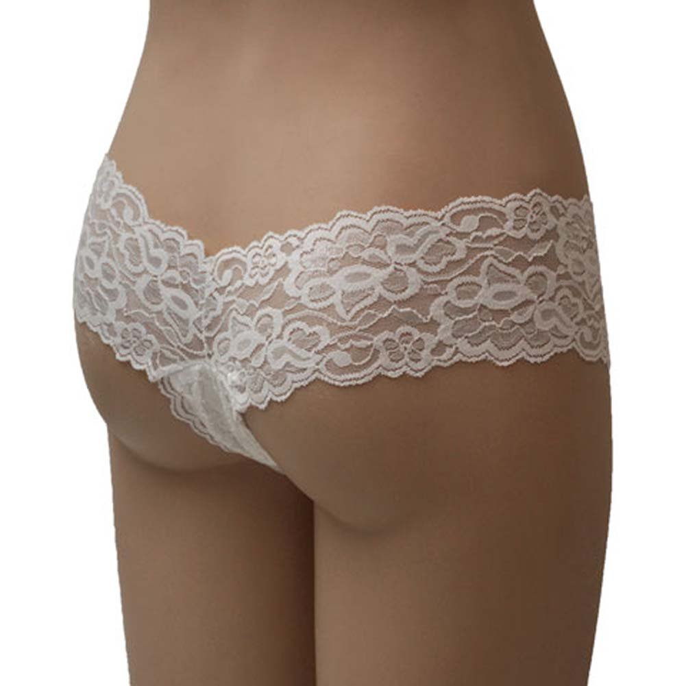 Lacey V Cut Tanga Shorts White Medium/Large - View #1
