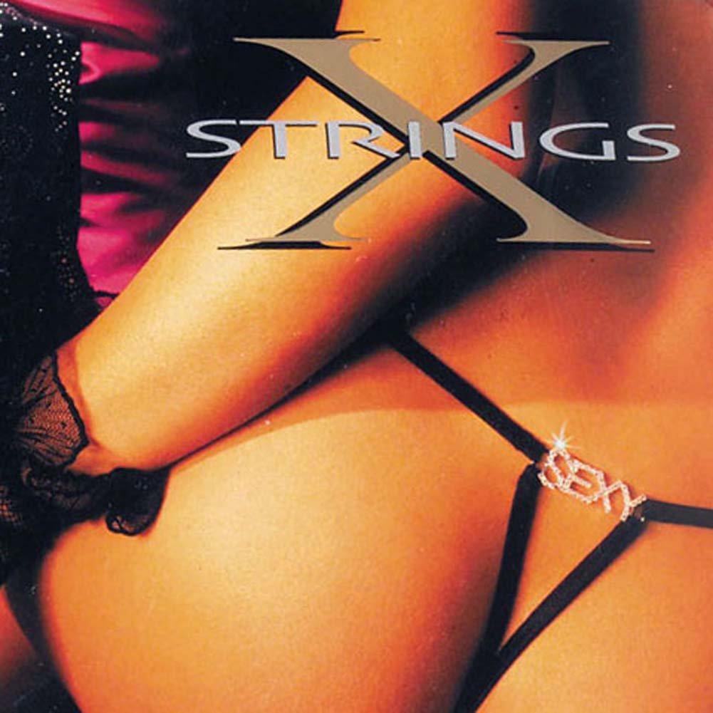 G-String with SEXY Rhinestone - View #1