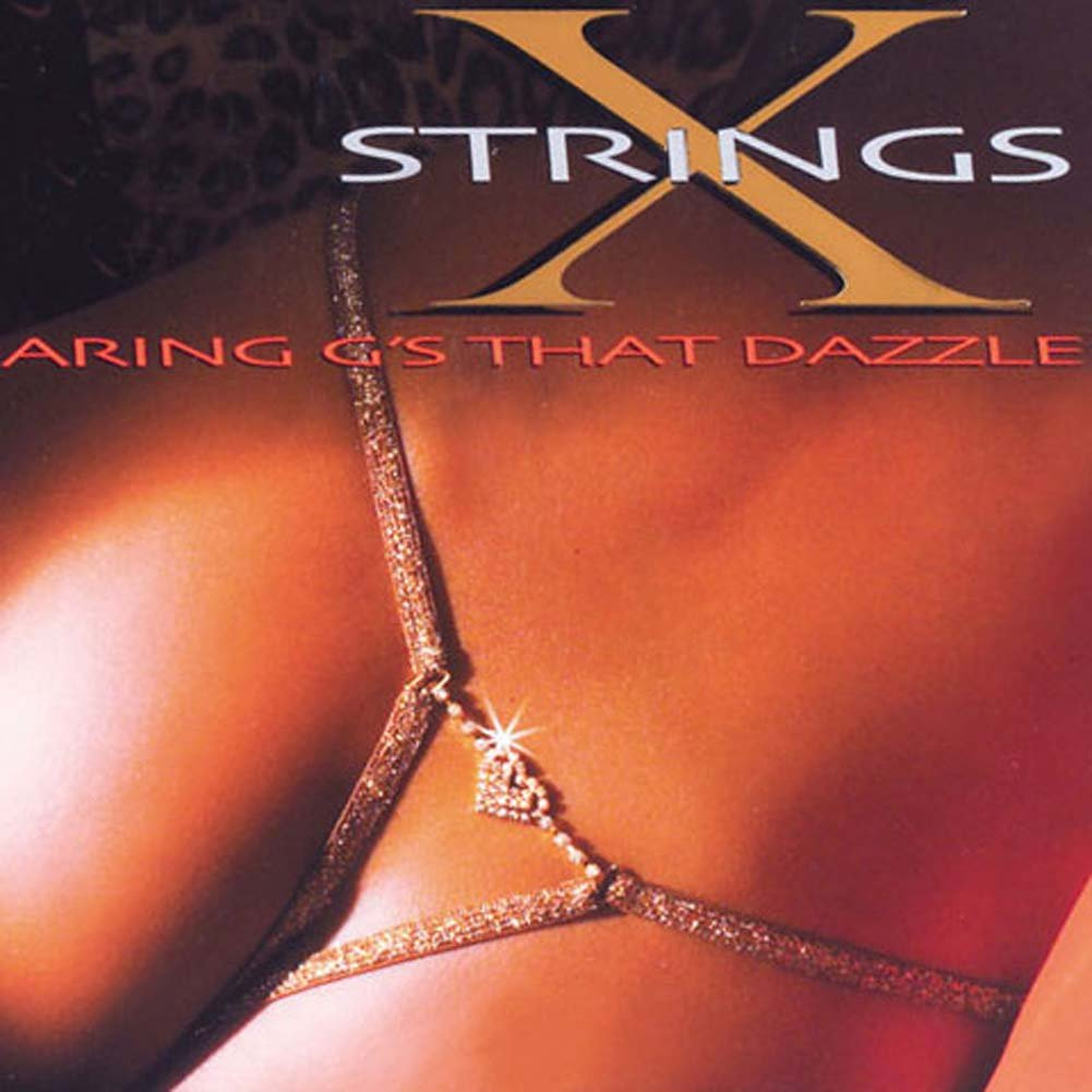 G-String with Rhinestone Heart - View #1