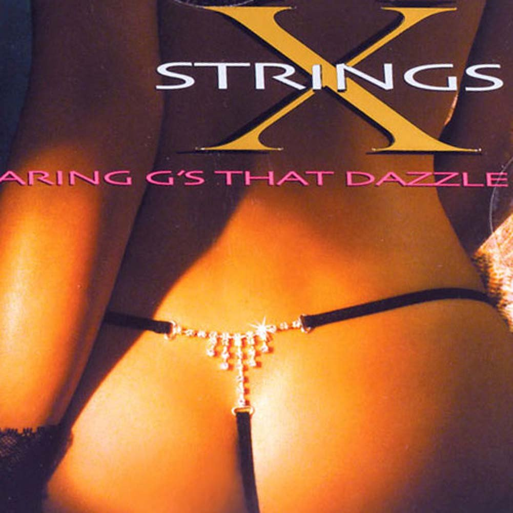 G-String with Crystal Rhinestone - View #1