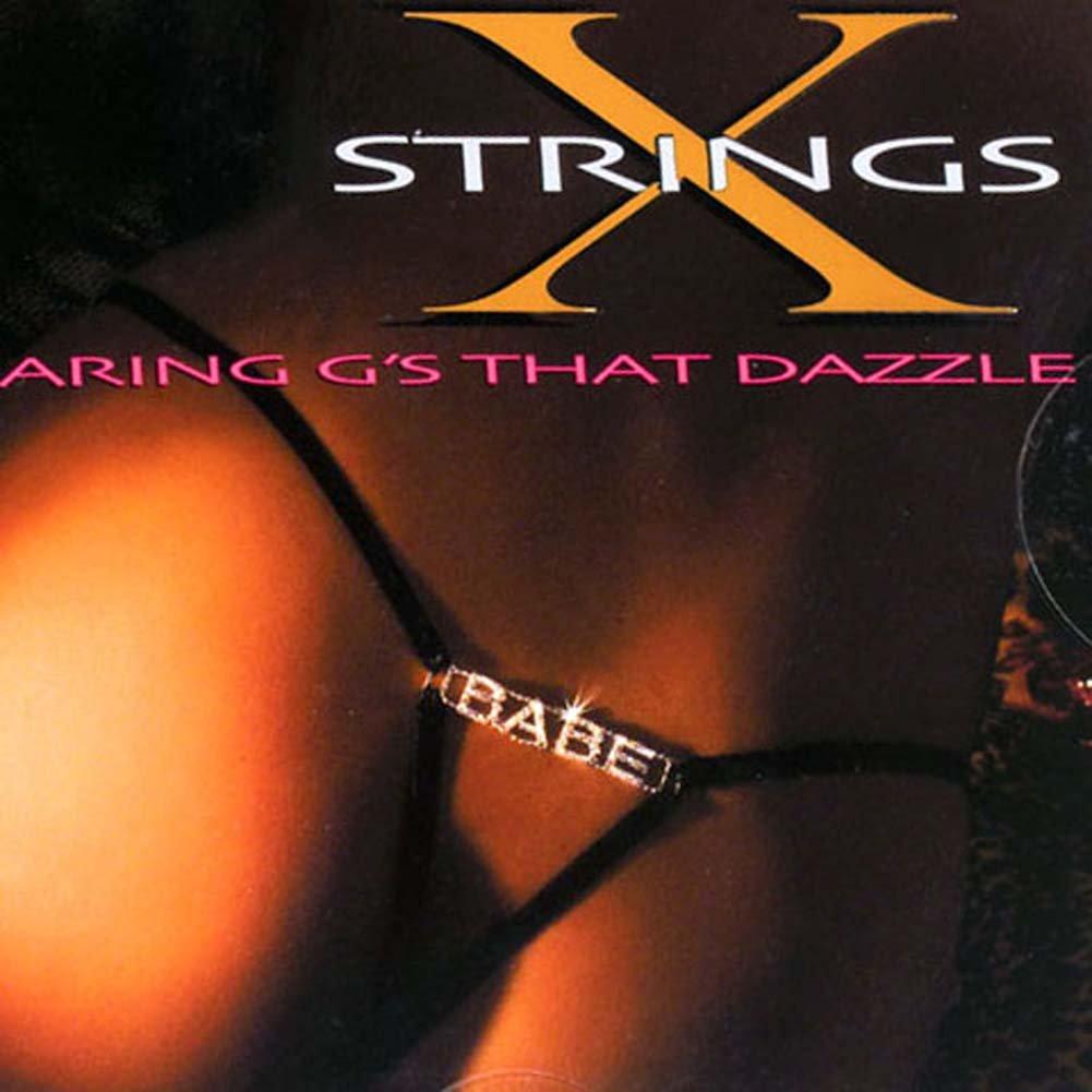 G-String with BABE Rhinestone Logo - View #1