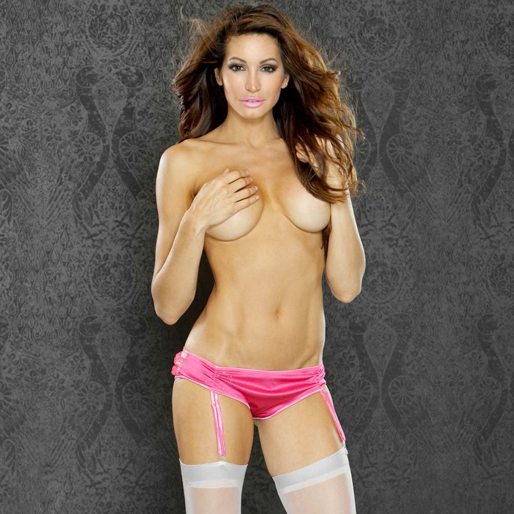 Boudoir Princess Ruffled Bum Garter Panty Large - View #1