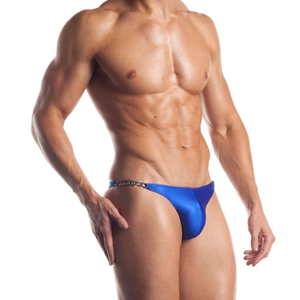 Extreme Series Chain Link Thong One Size Blue - View #1