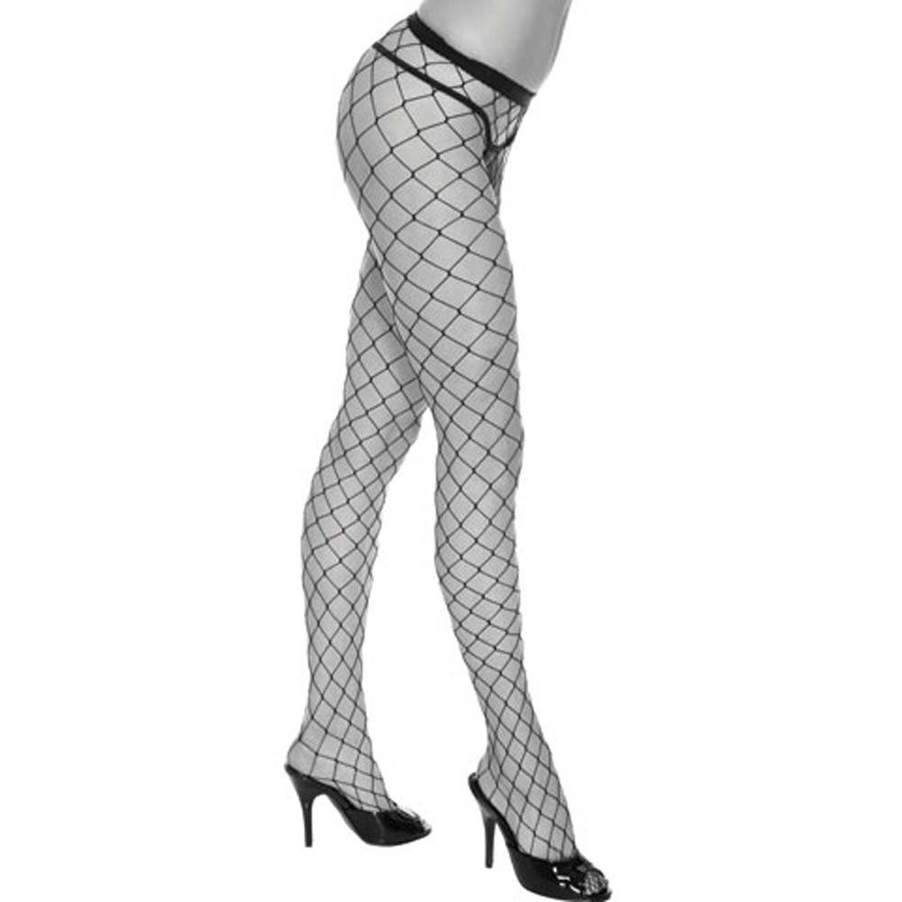 Fashionable Fence Net Pantyhose Black - View #2