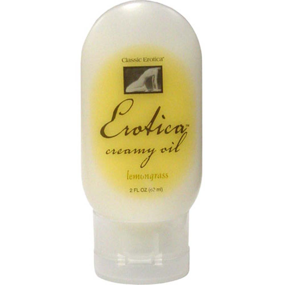 Erotica Creamy Massage Oil Lemongrass 2 Fl. Oz. - View #1