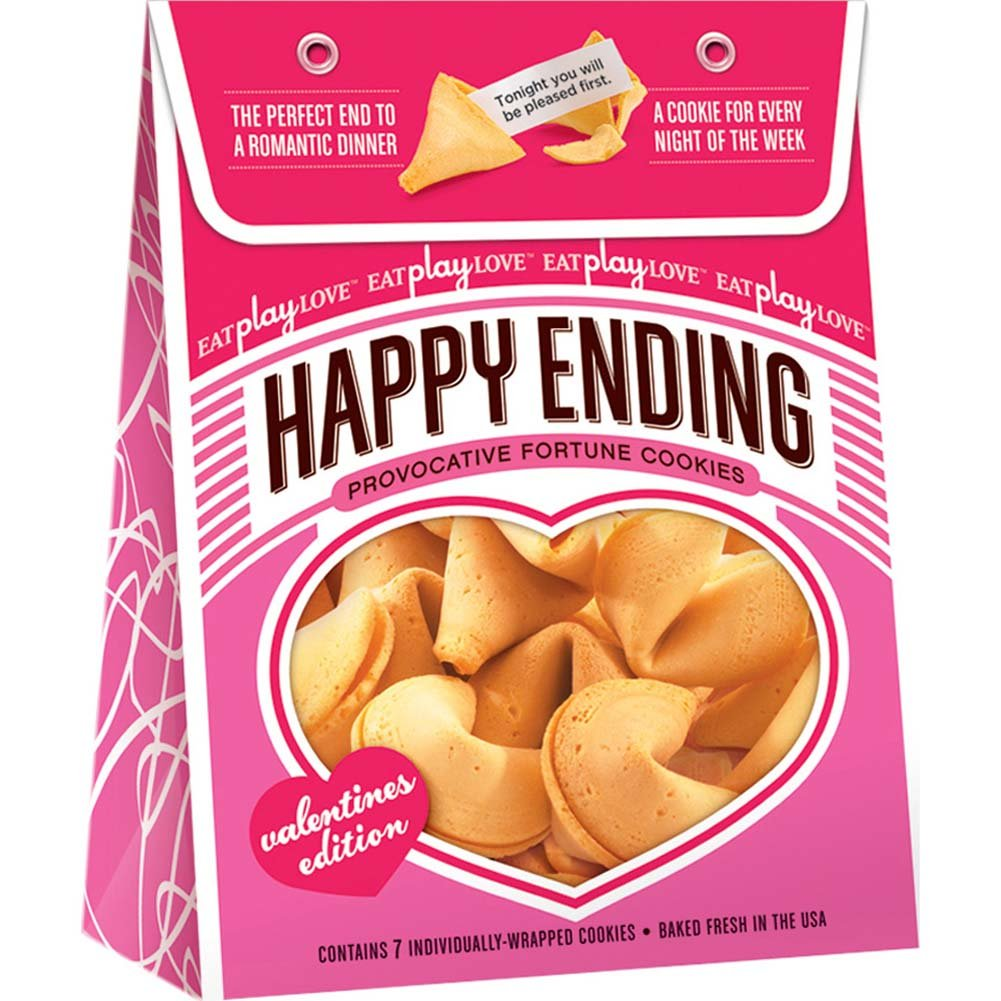 Happy Ending Valentines Edition Fortune Cookies 7 Count - View #1