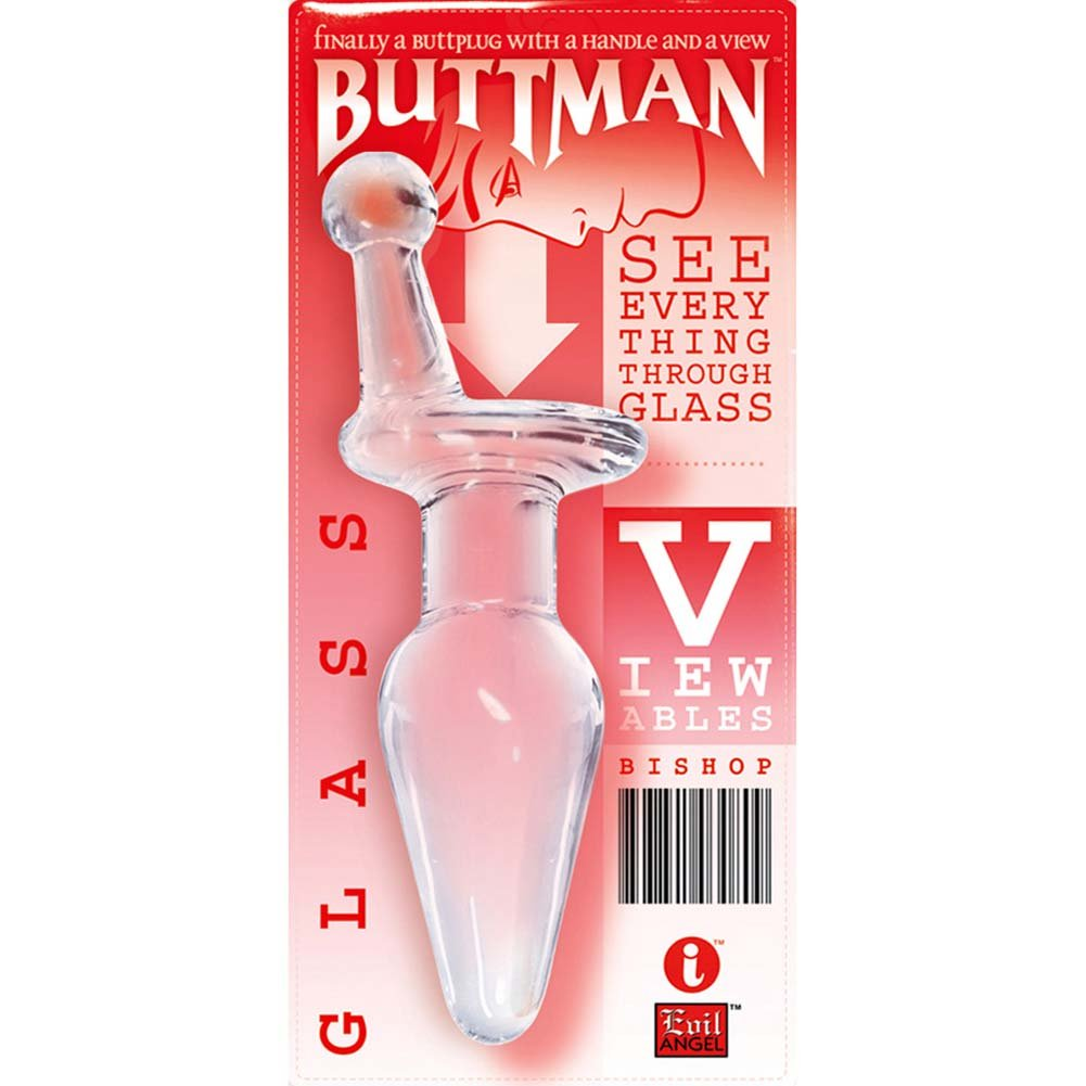 "ButtMans Viewable Glass Butt Plug 5"" Bishop - View #3"