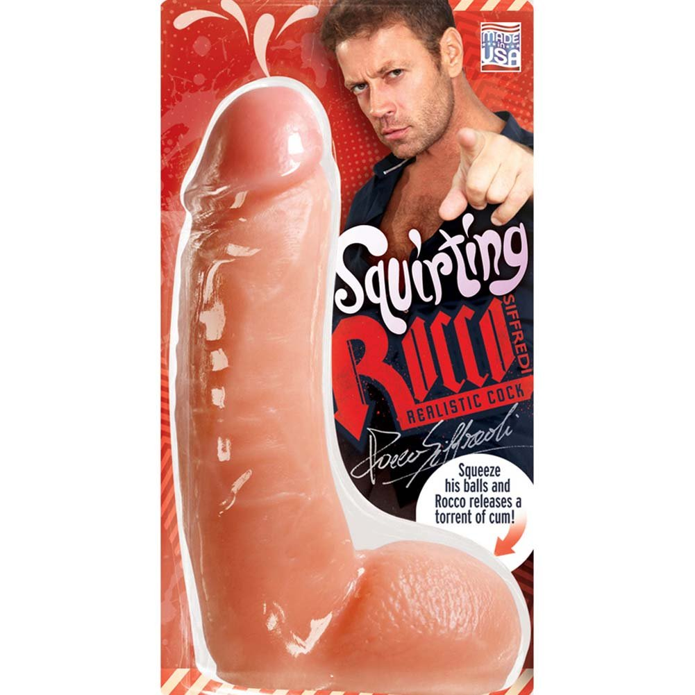 Rocco Siffredi Realistic Squirting Cock with Balls Natural - View #3